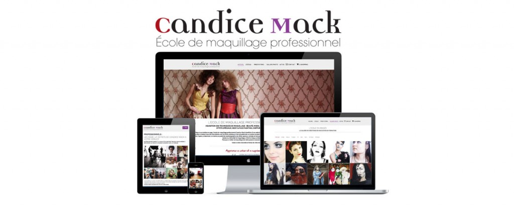 infra blog candice mack cole de maquillage professionnel un nouveau site frais et lumineux. Black Bedroom Furniture Sets. Home Design Ideas